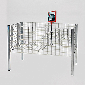 SHOWCARD STAND DK, A5P FRAME, ADJUSTABLE TUBE 320-620 MM, FOR WIRE BASKETS