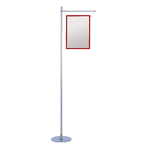 GALLOW SHOWCARD STAND, 1 GALLOW 400 MM, ADJUSTABLE TUBE 1000 - 1900 MM