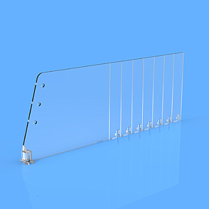 DIVIDER 120X635 MM (HXL), BREAKING POINTS TO EVERY 25 MM