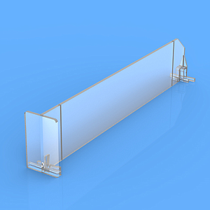 "DIVIDER 60X385 MM (HXL), WITH TWO FIXING POINTS, ""T"" FRONT 60X35 MM"