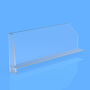 "DIVIDER 150X300 MM, WITH ""L"" FRONT RIGHT 27/20x100 MM, WITHOUT FIXING POINTS"