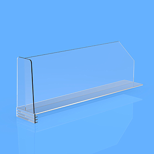"DIVIDER 150X300 MM, WITH ""T"" FRONT 54/41x100 MM, WITHOUT FIXING POINTS"