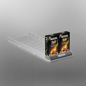 SHELF ORGANIZER WITH LOW ROUNDED FRONT, 92,5X540 MM