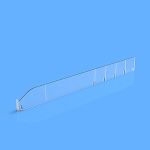 "PET DIVIDER 50X485 MM (HXL), ""L"" FRONT IN LEFT SIDE, 12X30 MM, BREAKING POINTS TO EVERY 50 MM"