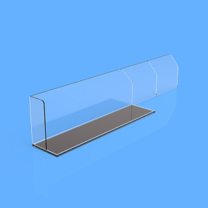 "PET DIVIDER 50X255 MM, WITH ""L"" FRONT RIGHT 20X50 MM, TWO BRAKING POINTS AT 155 MM OR 205 MM, MAGNETIC BASE"