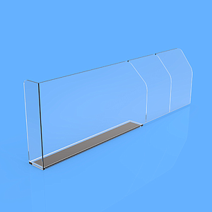 "PET DIVIDER 80X255 MM, WITH ""L"" FRONT LEFT 20X50 MM, TWO BRAKING POINTS AT 155 MM OR 205 MM, MAGNETIC BASE"