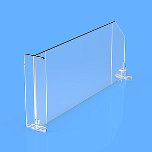 "DIVIDER 120X635 MM (HXL), WITH TWO FIXING POINTS, ""T"" FRONT 120X35 MM"