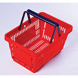 SHOPPING BASKET WITH 2 HANDLES, 28 L