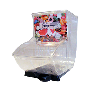 SLATBOX RECIPIENT 222X428X354 MM, WITH BLACK TRAY, ONE SCOOP HOLDER