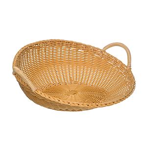BRAIDED ROUND BASKET WITH TWO HANDLES, 420X185 MM (DXH)