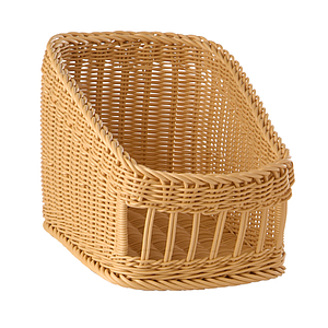 BRAIDED BASKET, 300X400 MM BASE DIAMETER (LXl), HEIGHT: 160 MM IN FRONT AND 270 MM IN BACK