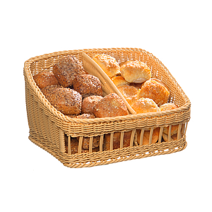 BRAIDED BASKET, 450X400 MM BASE DIAMETER (LXl), HEIGHT: 160 MM IN FRONT AND 270 MM IN BACK