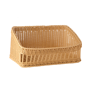 BRAIDED BASKET, 600X400 MM BASE DIAMETER (LXl), HEIGHT: 160 MM IN FRONT AND 270 MM IN BACK