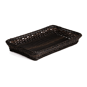 BRAIDED RECTANGULAR GN 1/6 BASKET MADE OF PLASTIC, BASE SIZE: 176X162X65 MM (LXlXH)
