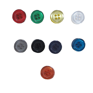 SHIRT BUTTONS LARGE, 100% POLYESTER