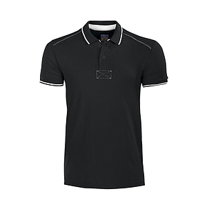 PIQUE TOP RIB POLO T-SHIRT, WITH TWO BUTTONS ON THE PLACKET