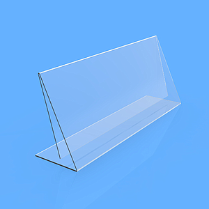 INCLINED MENU HOLDER, FOR 90X40 MM SIZE, 0,3 MM ANTIREFLECTIVE