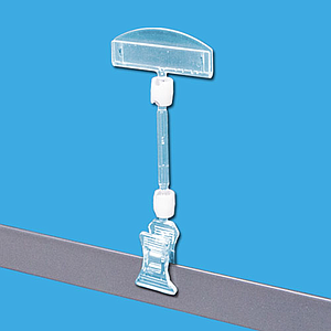 CLEAR GRIP SYSTEM CONSISTING A SMALL CLAMP, A LABEL HOLDER, A SMALL TUBE AND TWO JOINTS