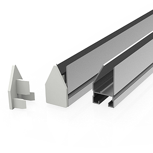 """H"" ALU-CLAMP RAIL FOR POSTERS SUSPENSION, 40X1000 MM, PRINT THICKNESS MAX 3 MM"