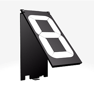 PP80 SINGLE DIGIT, HINGED BLACK MODULE, 100X48 MM, WITH HOLDER