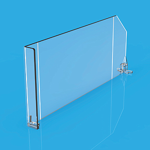 DIVIDER 120X485 MM (HXL), WITH TWO FIXING POINTS, WITH RIGHT FRONT