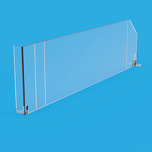 SNAP-ON DIVIDER WITH FRONT ON THE LEFT, 120X385MM (HXL)